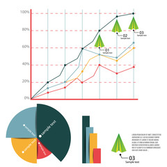 Vector illustration of Business graph and chart