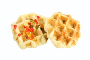 waffle dessert isolated