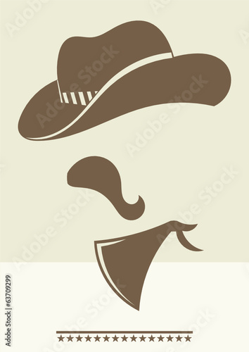 abstract cowboy character