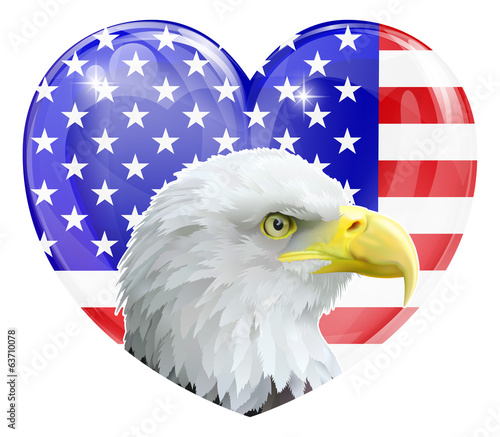 Eagle American love heart