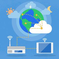 Big Data, Cloud computing concept