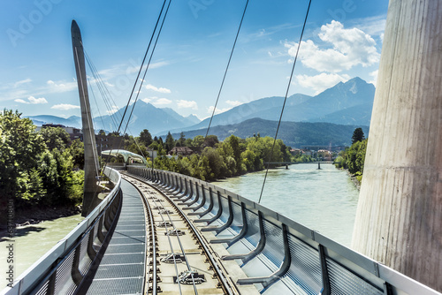 Innsbrucker Nordkette cable railways in Austria.