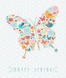 Obrazy na płótnie, fototapety, zdjęcia, fotoobrazy drukowane : Happy Spring colorful butterfly concept