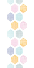 Abstract colorful honeycomb fabric textured vertical seamless