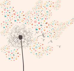 Spring dandelion illustration