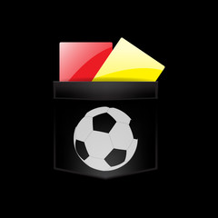 Vector illustration of Referee red card