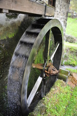 Traditional water wheel