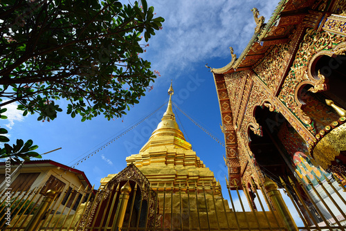 Thai temple of buddhism, Wat Mahawan temple in thailand
