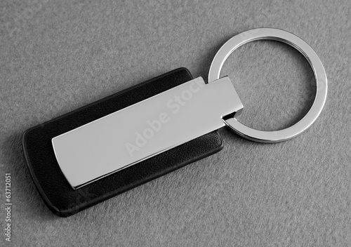 keychain with space for text or logo.