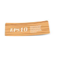 vector illustration of wood label paper