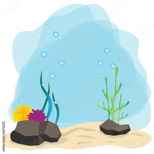 Vector illustration of undersea