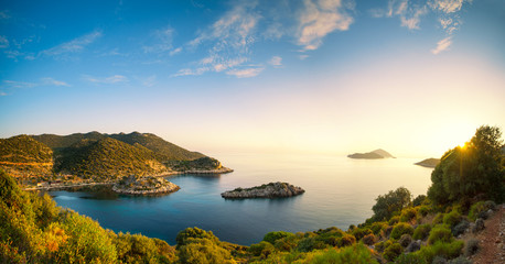 panorama of the Mediterranean coast