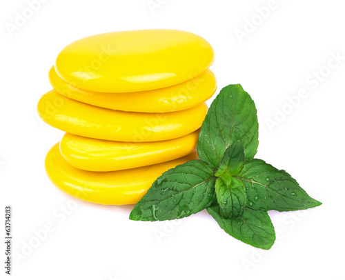 Massage Stones with Mint