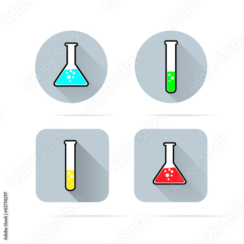Laboratory glass icons