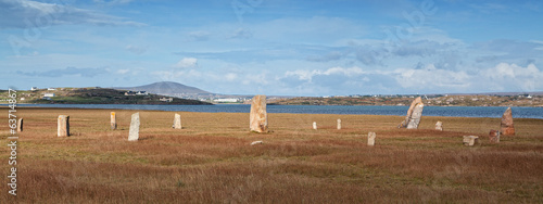 Standing stones circle near Donegal airport