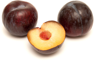 dark red plums