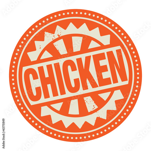 Abstract stamp or label with the text Chicken written inside