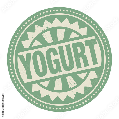 Abstract stamp or label with the text Yogurt written inside