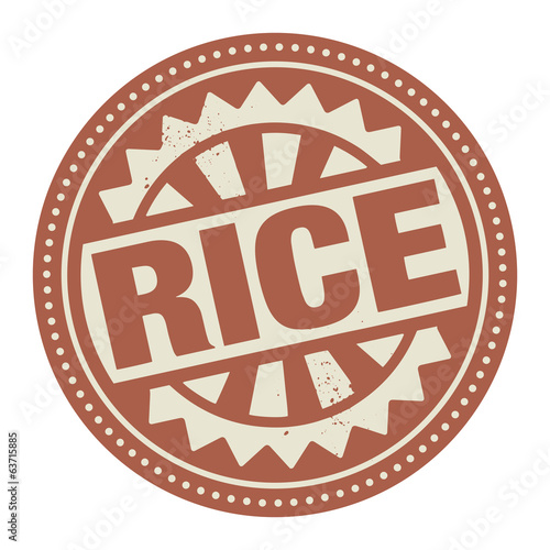 Abstract stamp or label with the text Rice written inside