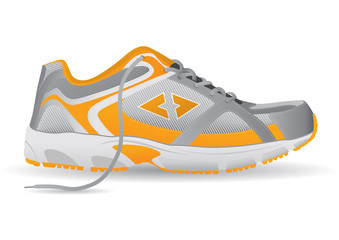Stylish Sneaker Sports Shoe Vector Illustration