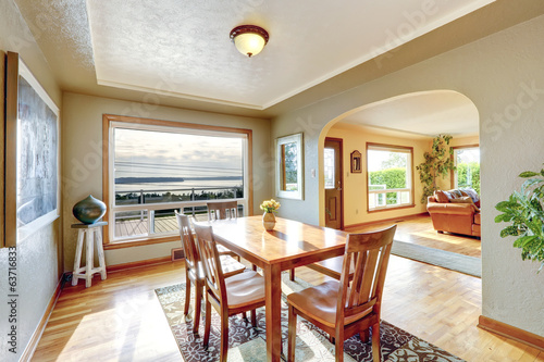 Dining area with beautiful window view