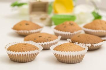 Cupcakes mit Schokostreuseln