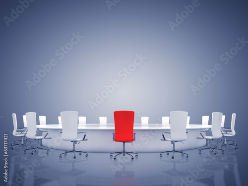 Modern oval conference room with copyspace,CEO
