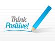 think positive message illustration design