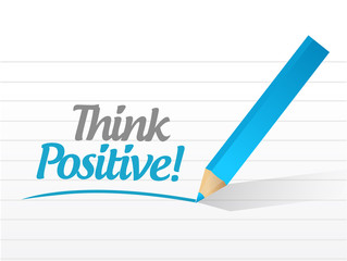 think positive message illustration design