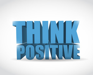 think positive sign illustration design