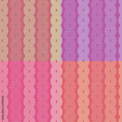 Seamless Retro Abstract Vector Pattern - Background