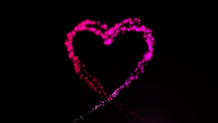Animated Heart with shining particles