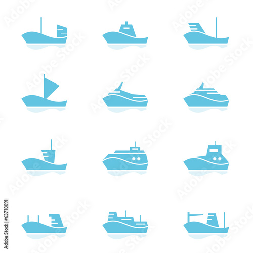Set of ships icons