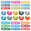 Colorful Vector Discount Stickers, Labels Set