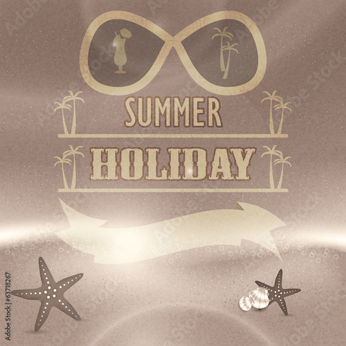 Summer holiday retro vintage background