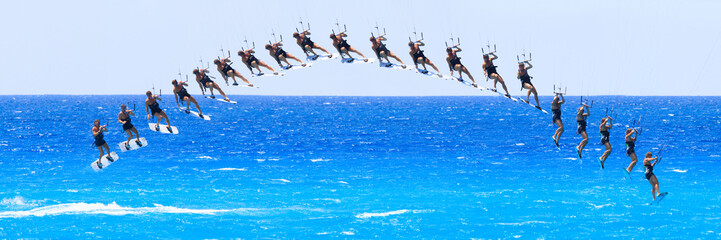 kite boarder on the Ionian island of Lefkas