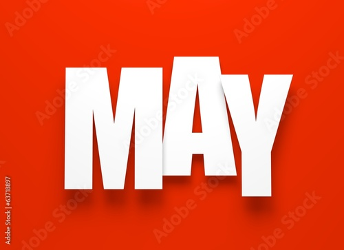 May on red