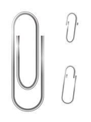 Paper clips isolated on white