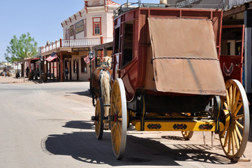 Stagecoach in Tombstone, Arizona