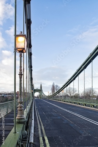 Hammersmith Bridge over river Thames