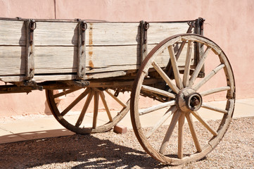 Antique wagon in Tombstone, Arizona