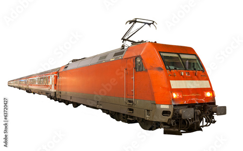 German train isolated on white background - 63720427