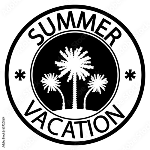 Summer vacation stamp