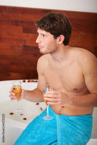 Man with champagne