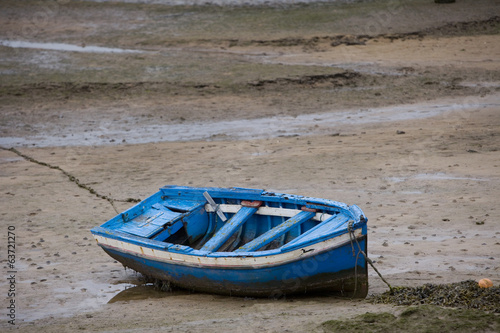 Barque at low tide