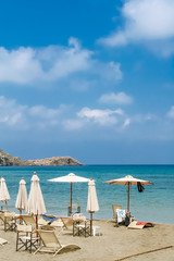 Beach on the island of Crete