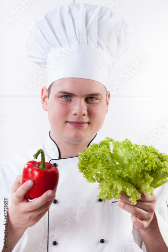 Young chef in uniform