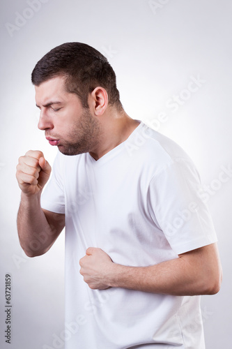 Coughing man