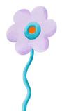 Funny purple flower