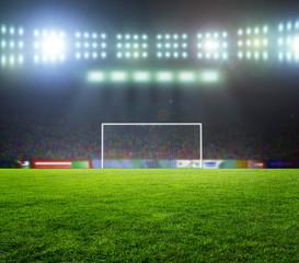 stadium before the match. Night, illuminated